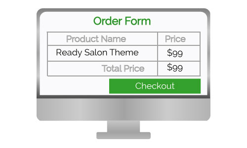 Salon theme design